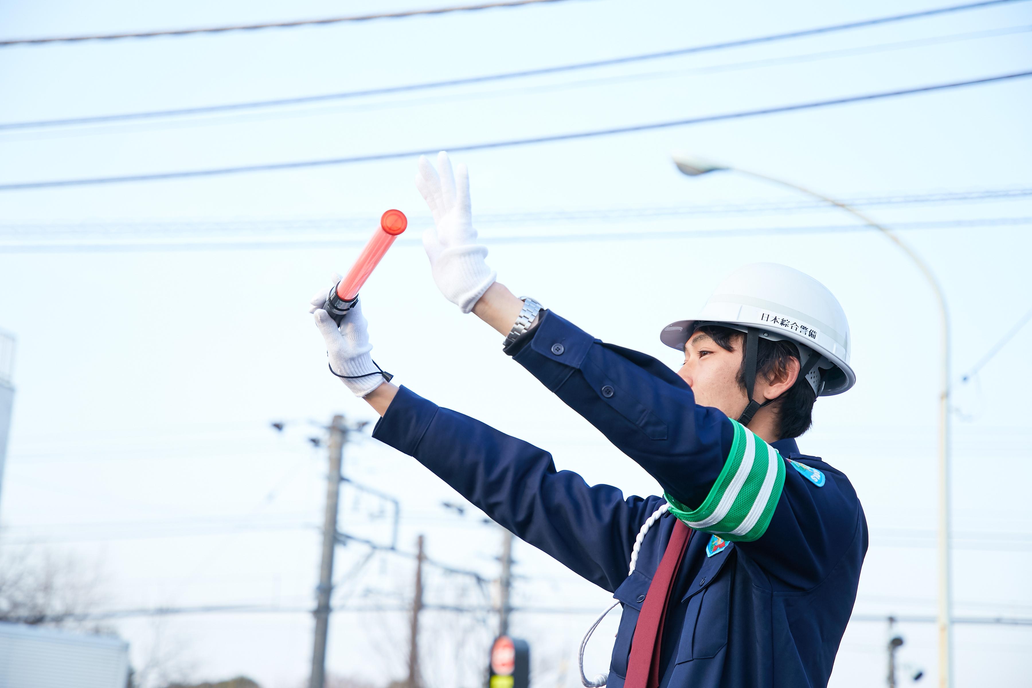 交通誘導警備(正社員、即日入社可能、新宿区・新宿駅) ギャラリー